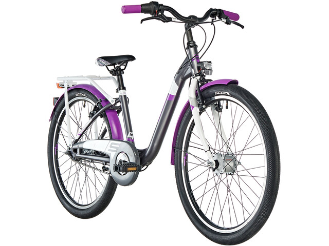 s'cool chiX 24 7-S Børnecykel alloy violet/sort (2019) | City